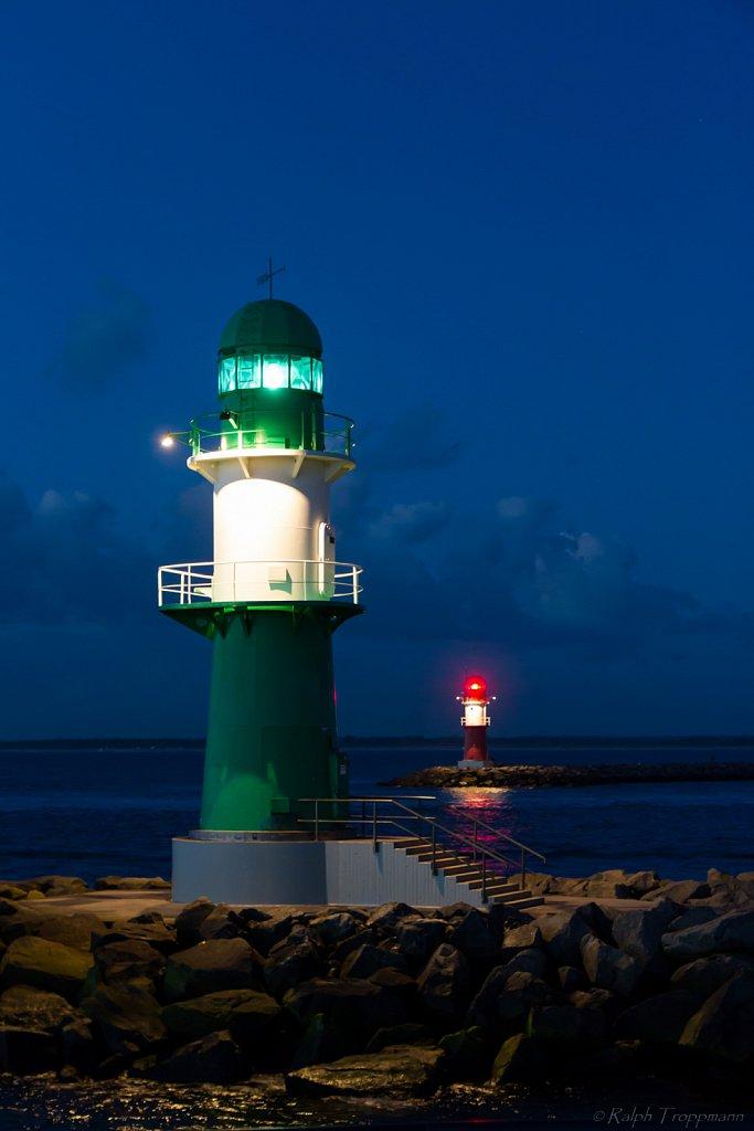 Leuchtfeuer Ost- und Westmole